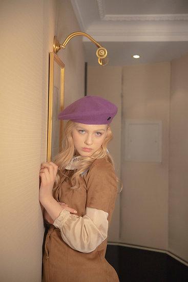 'la valse' wool beret in vivid violet