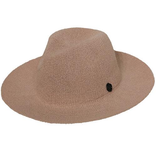Wide Brim Pinch Panama Hat LightPink