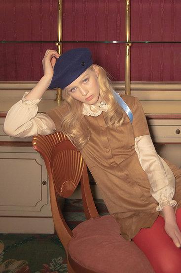 'la valse' wool beret in navy