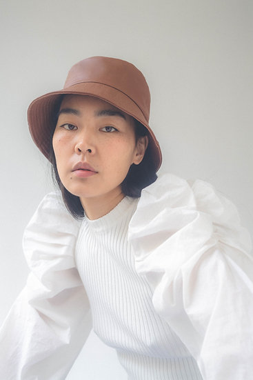 [Born to be loved] leather bucket hat_3colors