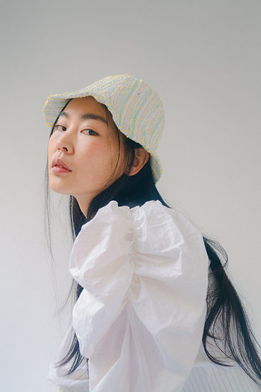 [Born to be loved] bjork hat_tweed-cotton candy