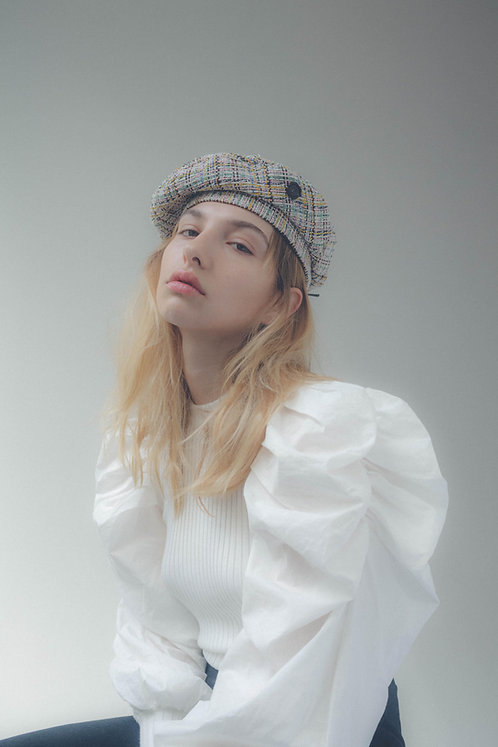 [Born to be loved] Tweed beret_pastel mix