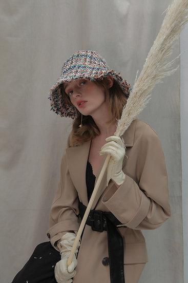 'Moonflower' tweed bucket in GB