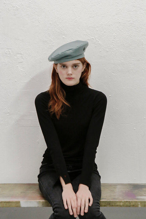 'La Rêverie' LAMBSKIN LEATHER BERET - mint