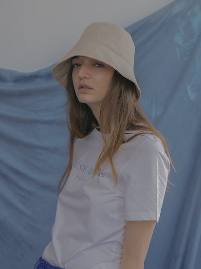 'Natural beauty' bucket hat in beige