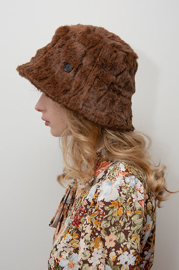 [In my dreams] Leopard fur bucket hat