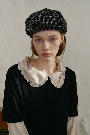 'Lumière' DÔME BERET_tweed black