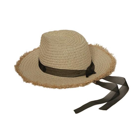 Panama hat with ribbon detail