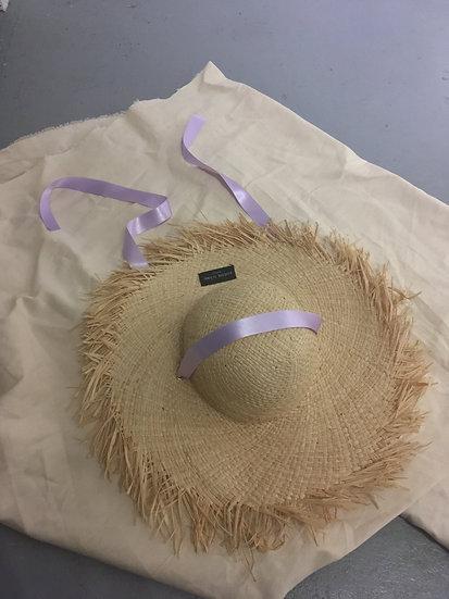 'violette' straw hat