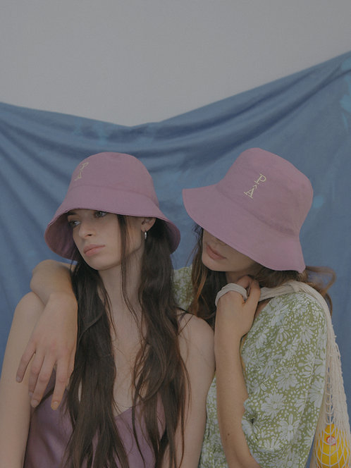 'Natural beauty' bucket hat in pinkviolet