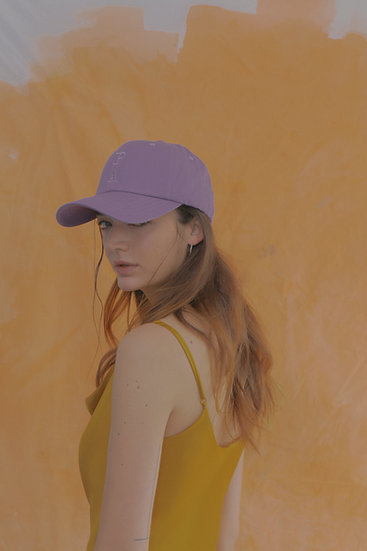 'Natural beauty'  ballcap in violet