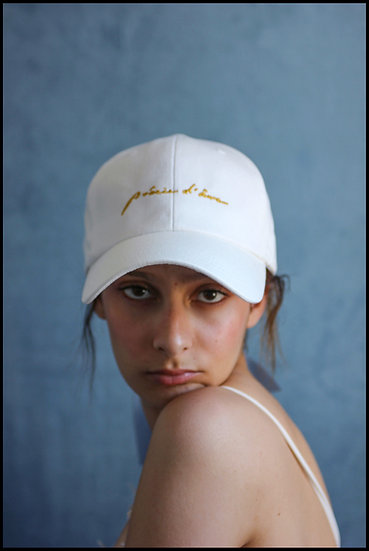 'Natural beauty' culsive ballcap in white