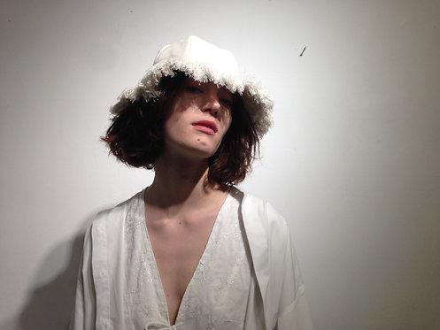 Bucket Hat in beige coton