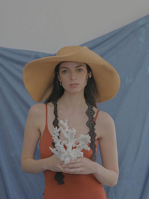 'Natural beauty'  boaterhat in beige