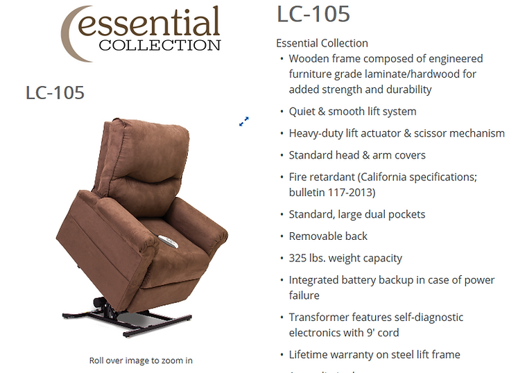 Lc 105 Lift chair