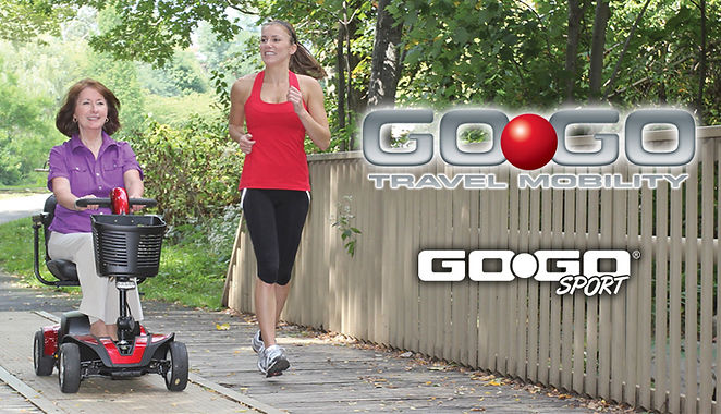 Go-Go Travel Scooter in stock.