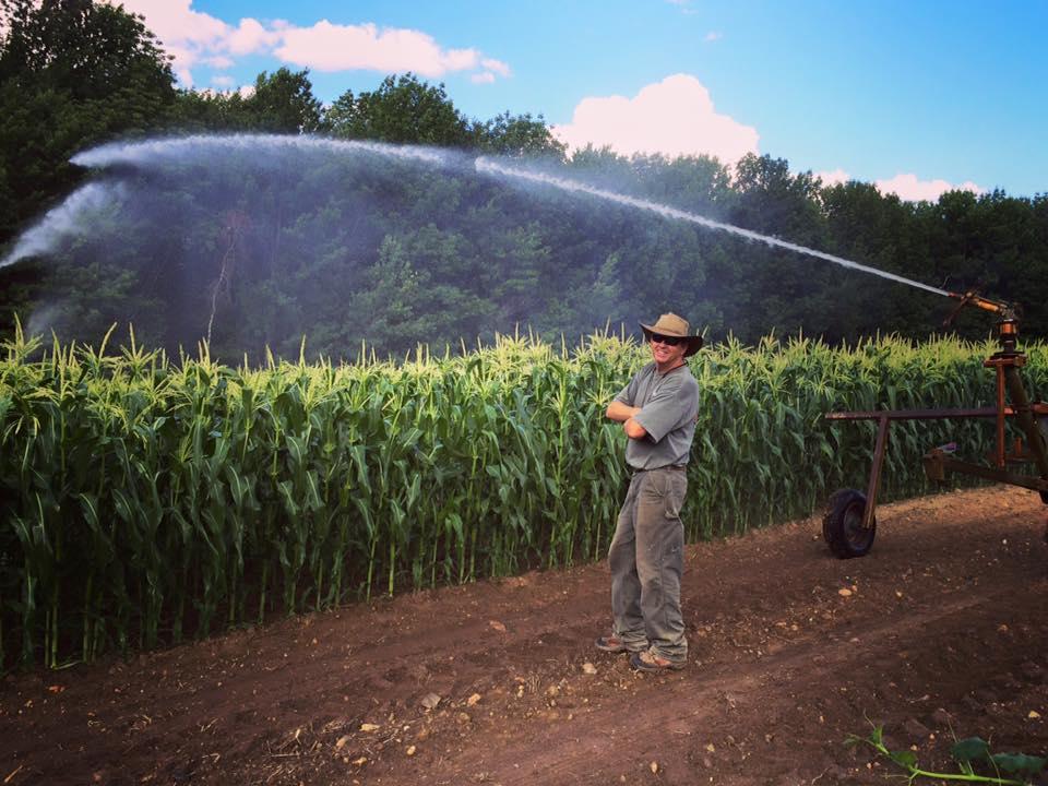 Doug Irrigating Corn