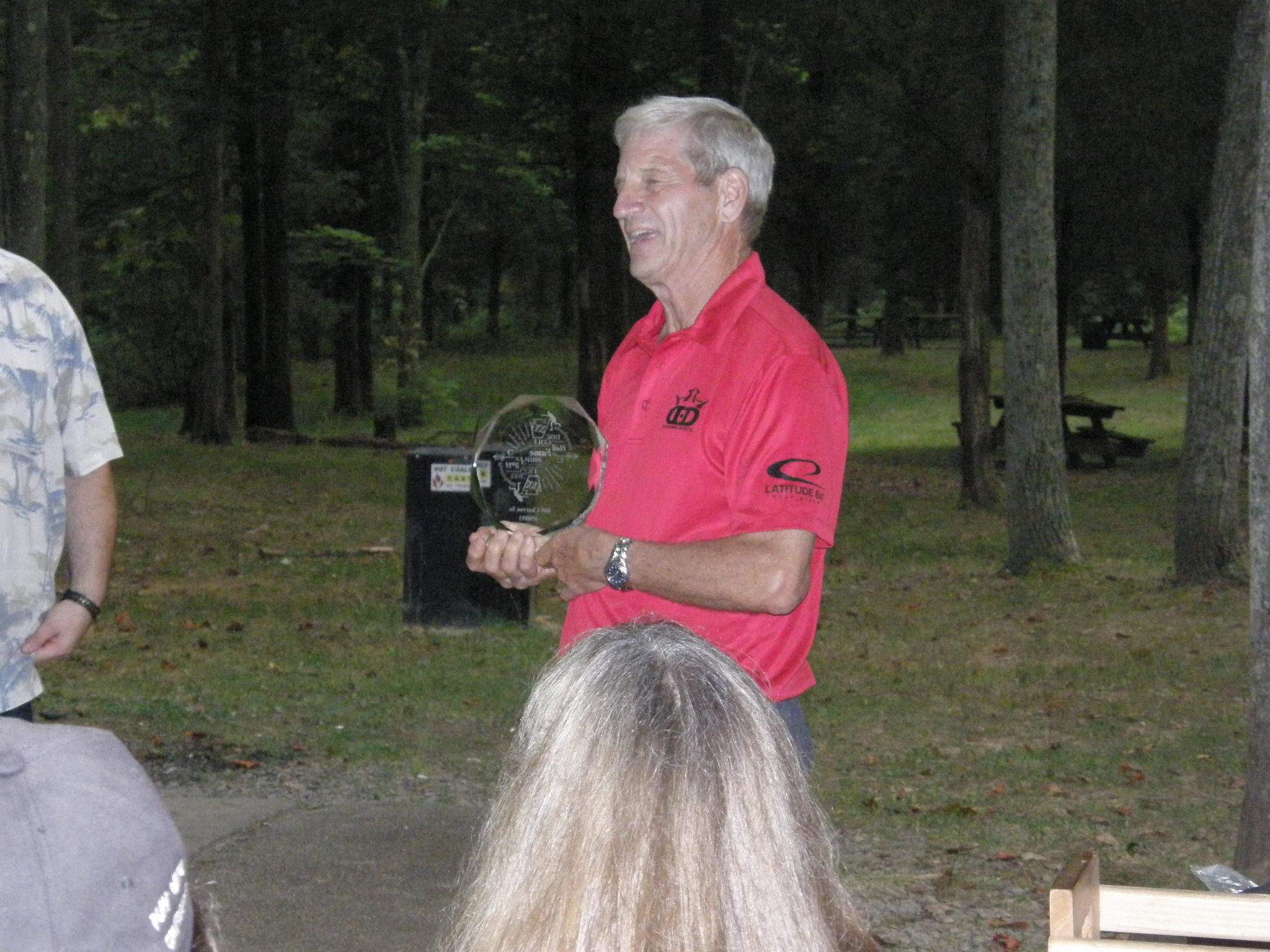 Bill Charron Sr receiving his award