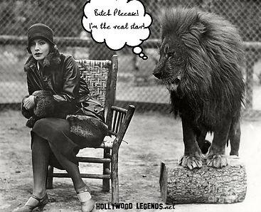 Leo with Greta Garbo