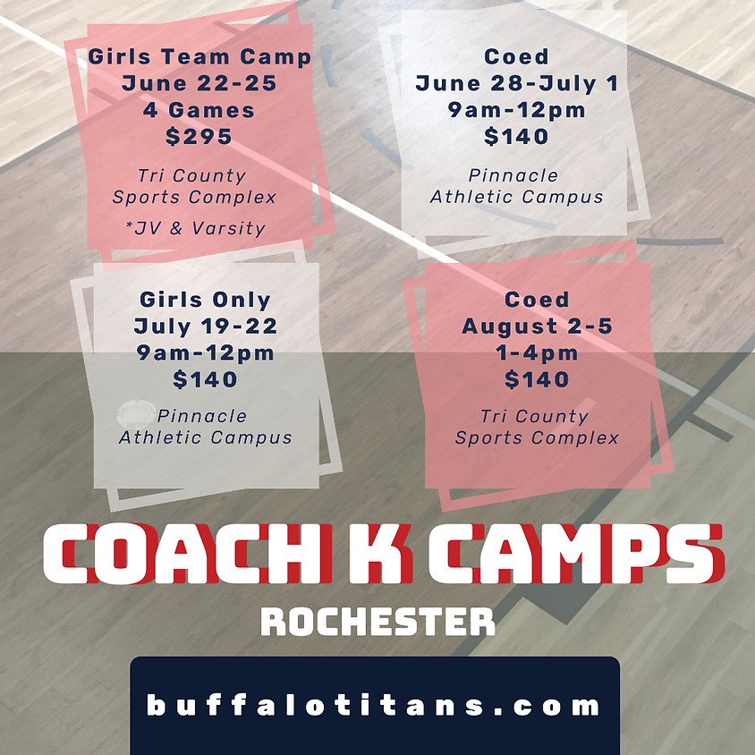 Rochester Coed Camp - June 28-July1