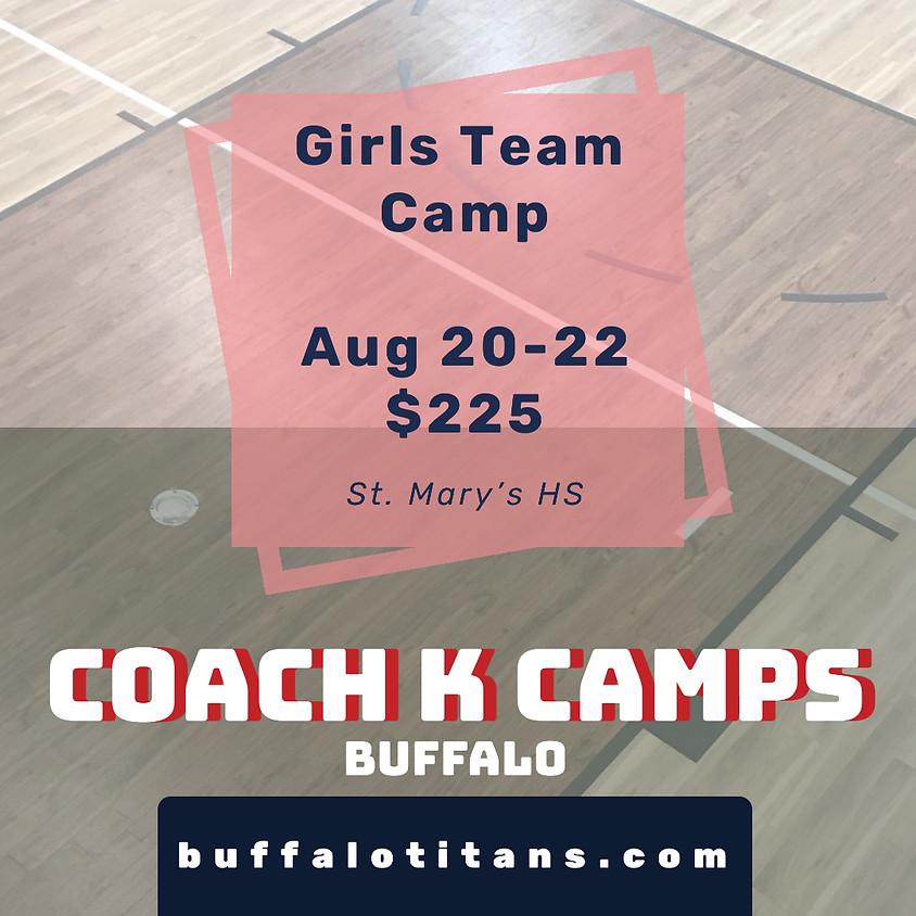 Buffalo Girls Team Camp - August 20-22