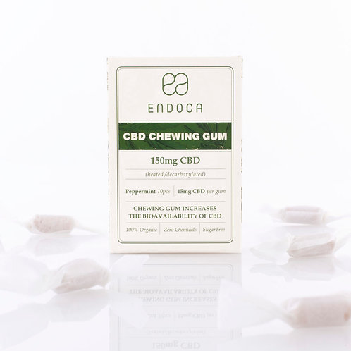 Endoca – Hemp Oil CBD Chewing Gum 10 Count (150mg CBD)