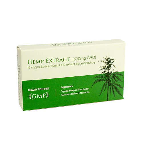 Endoca – Hemp CBD Suppository (50mg CBD each)