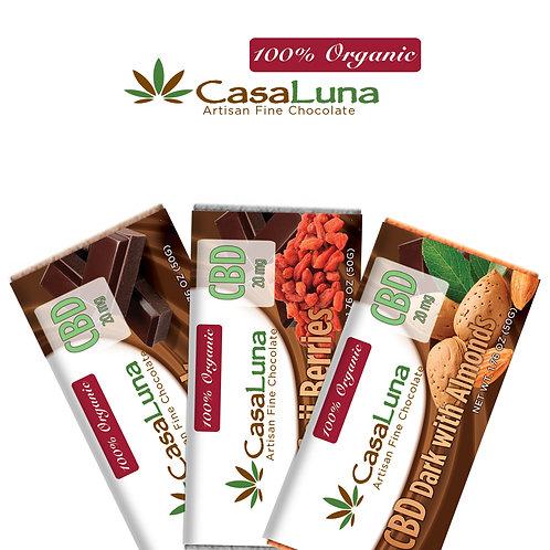 CasaLuna – Hemp Chocolate Bars (60mg CBD)