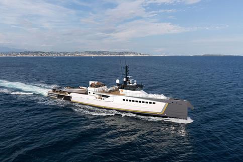 DAMEN Yacht Support BLUE OCEAN cruising.