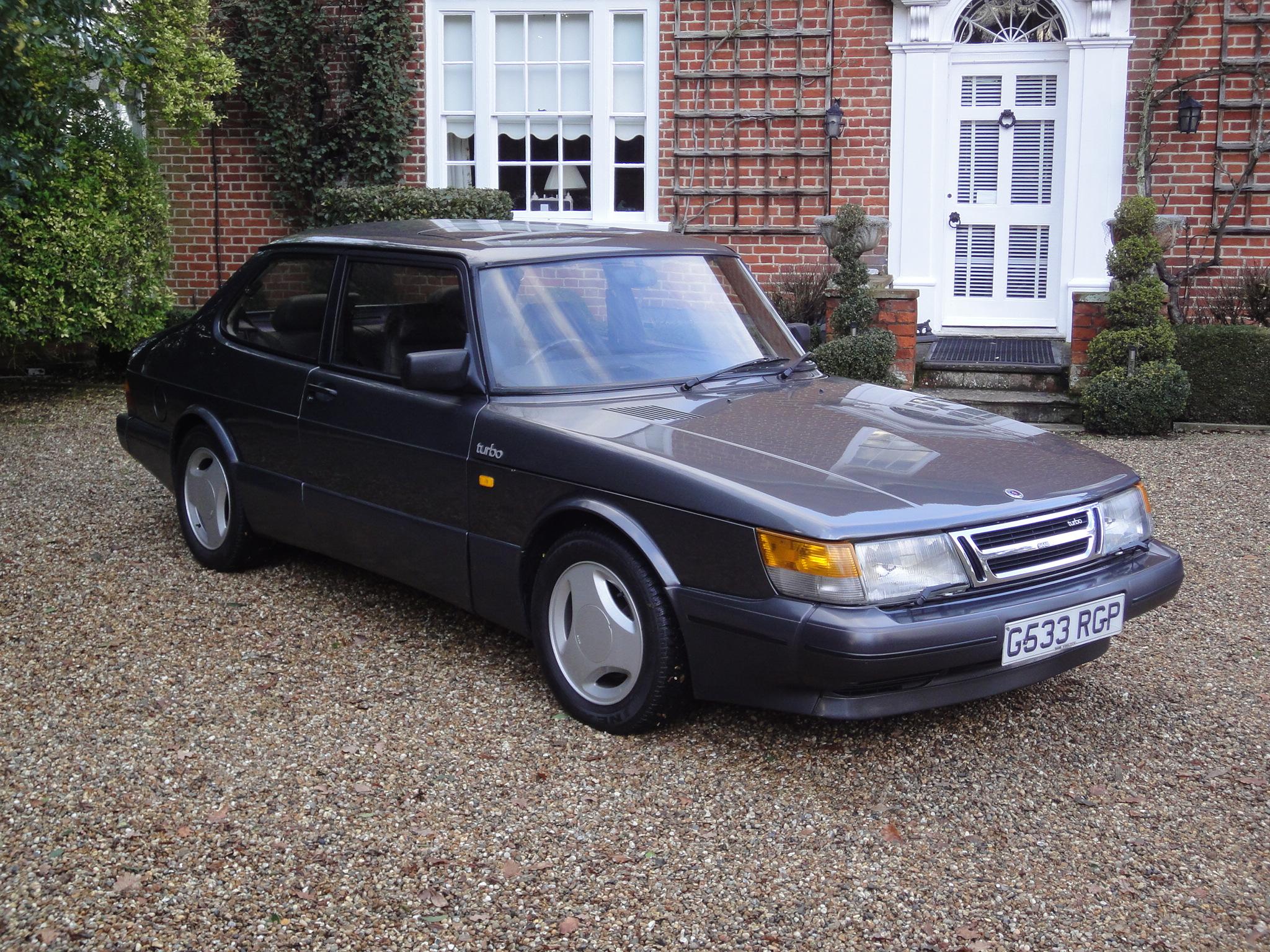 Grey Saab Turbo S 16 Valve