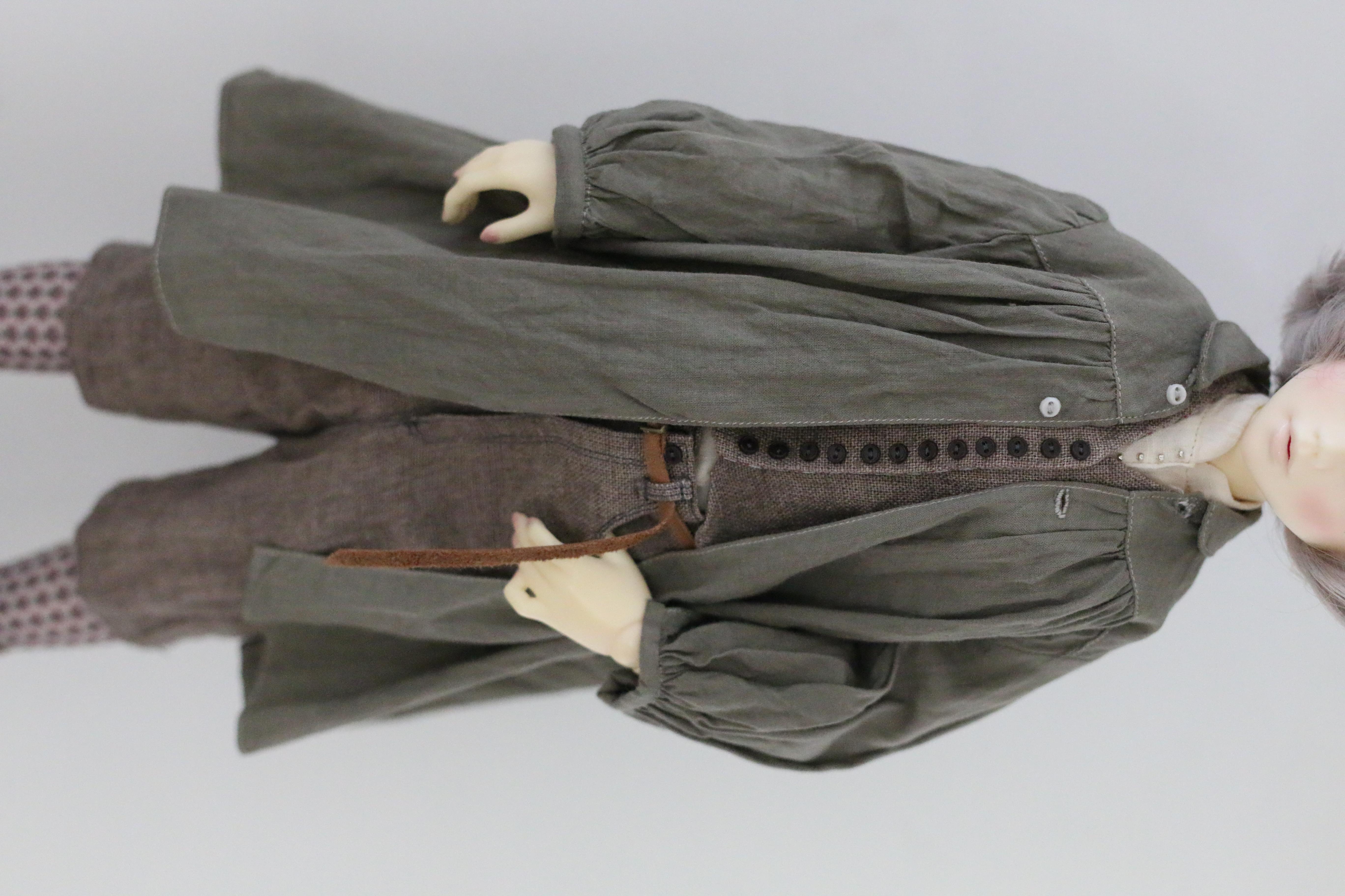 ユノアクルス少女サイズ草木染めコート