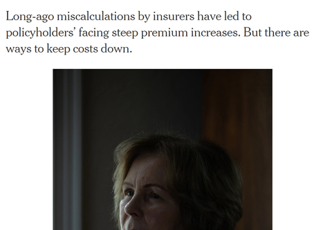 Long-Term Care Insurance Rate Increases in the Public Eye