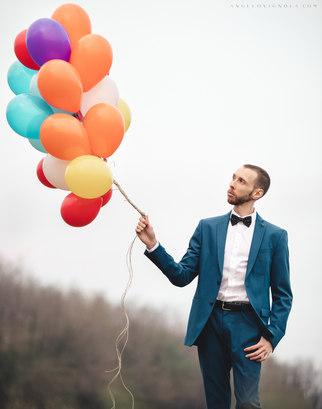 Marco schiaroli palloncini colorati