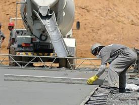 Construindo em piso de concreto
