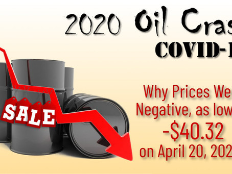 How Oil Prices Went to -$40.32: Explaining the COVID-19 2020 Oil Crash.