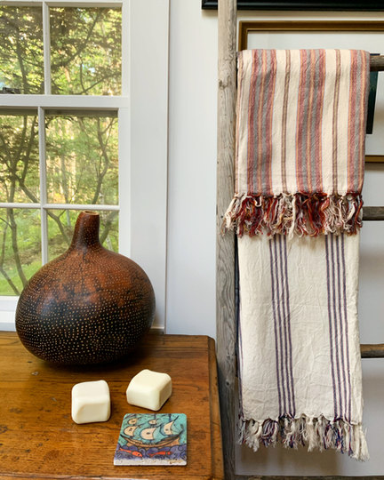 Turkish Towel, Tile & Soap Set