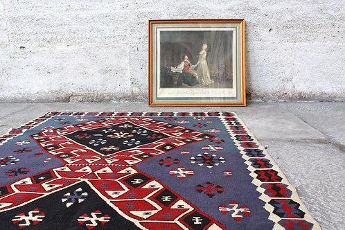 Vintage Anatolian Kilim 7'3 x 3'7