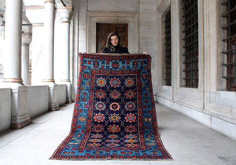 Vintage Kazakh Kilim 7'3 x 4'1
