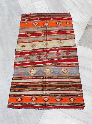 "Vintage Anatolian Kilim 11'2"" x 5'9"""