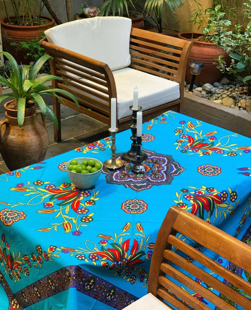 Handprinted Cotton Table Cloths