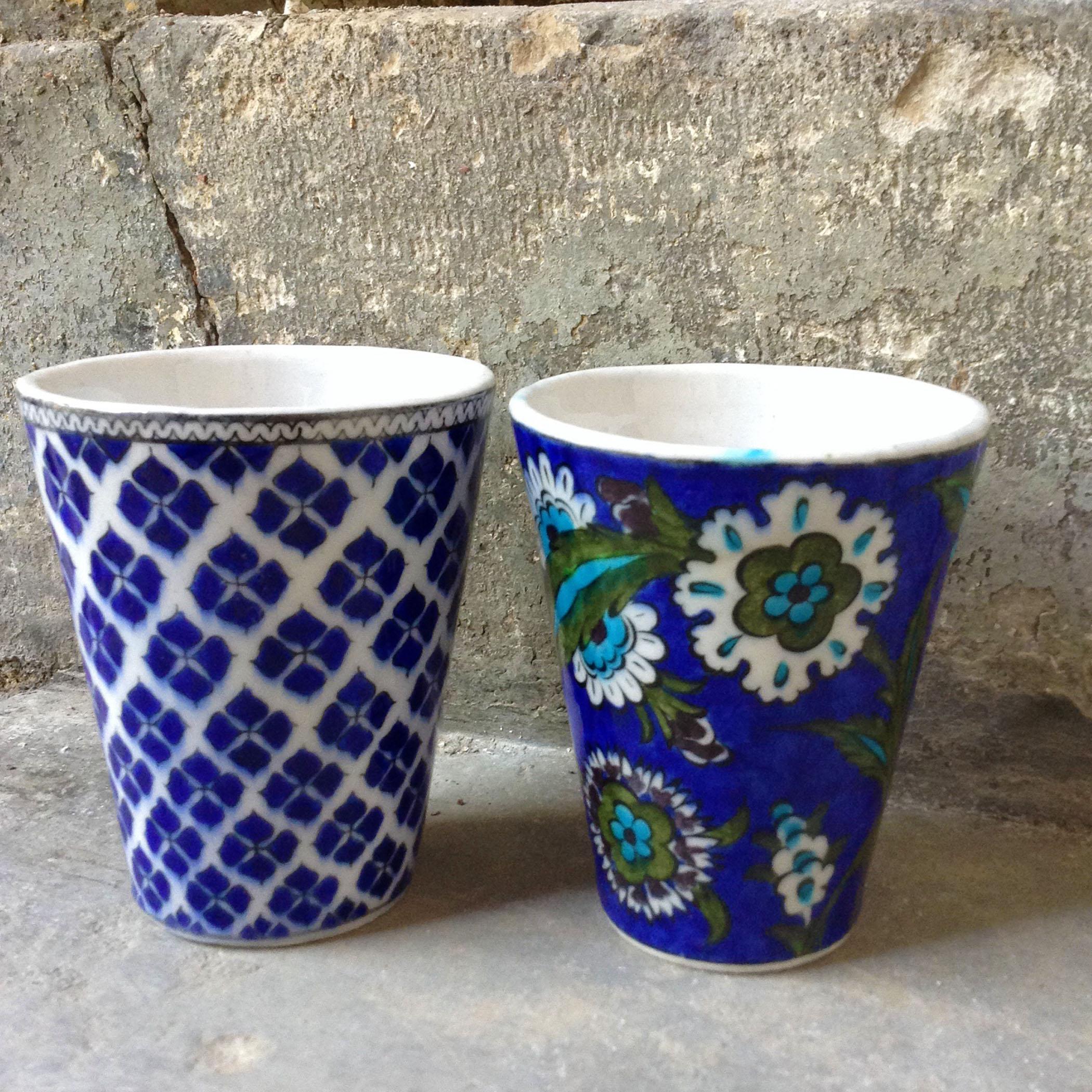 Turkish Modern Iznik Quartz Cup