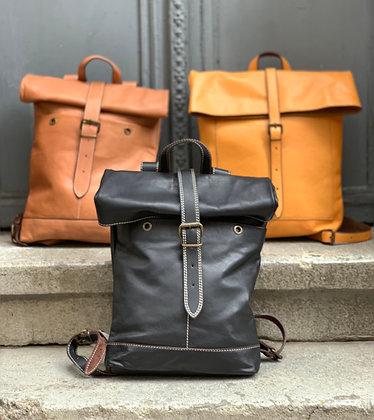 Black Rolltop Backpack