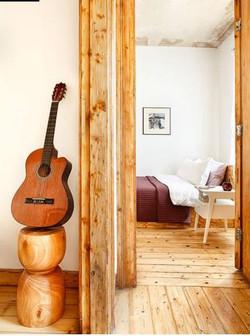 Hand-Carved Reclaimed Oak Nightstand