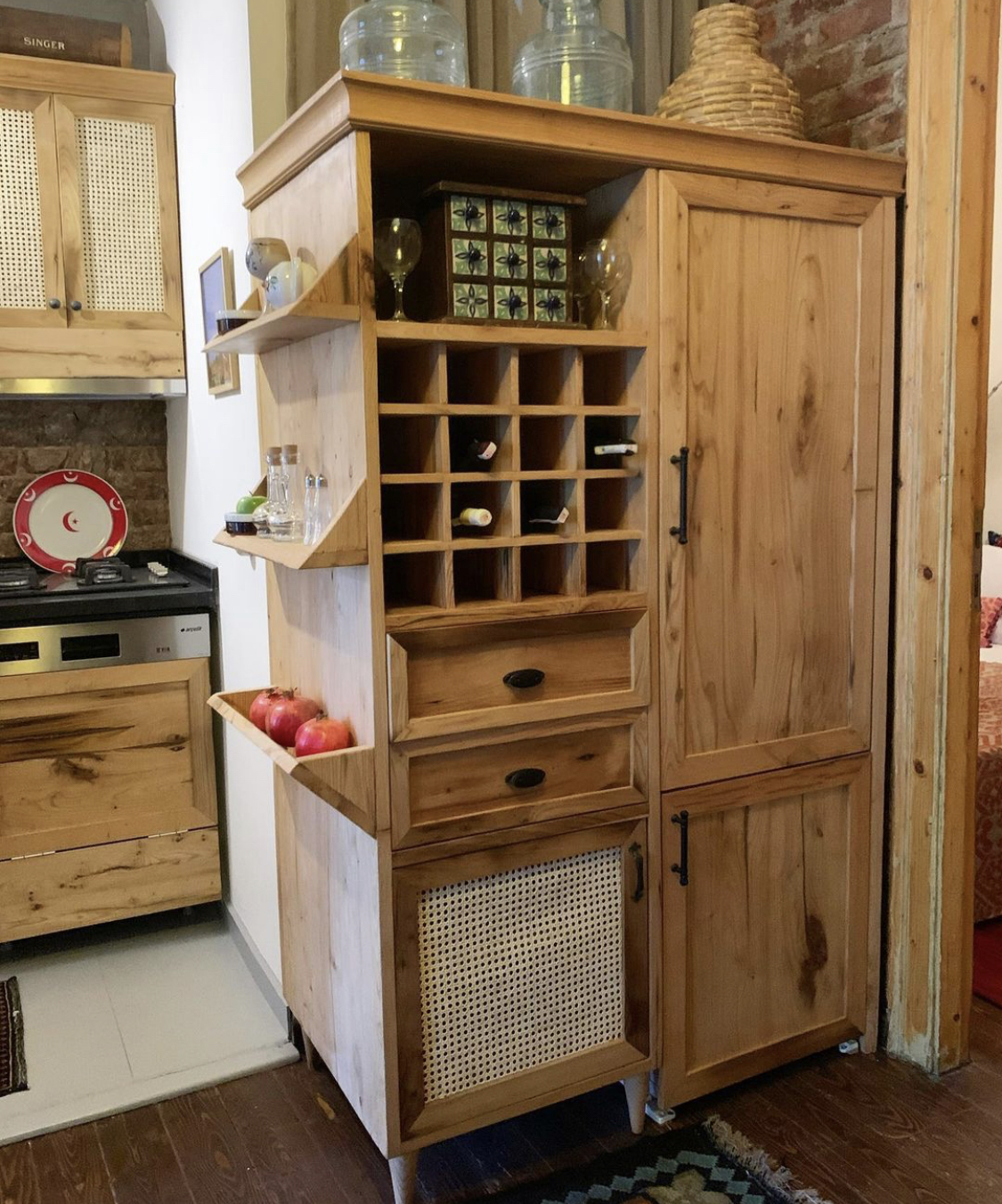 Wine Storage/Refrigerator Cupboard