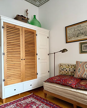 Handmade oak wardrobe and daybed furniture