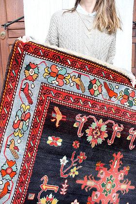 "Vintage Kazakh Kilim 7'6"" x 4'6"""