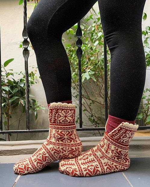 Wool Slipper Socks