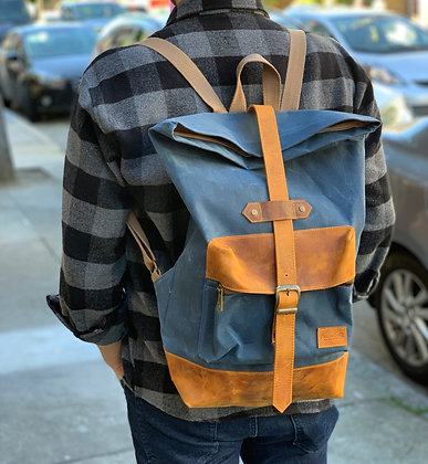 Cotton & Leather Backpacks