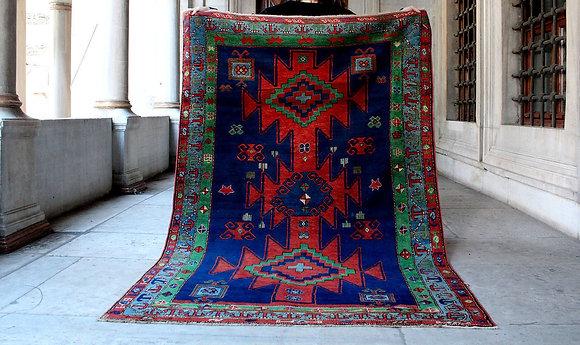 Vintage Azeri Kilim 7'1 x 4'6