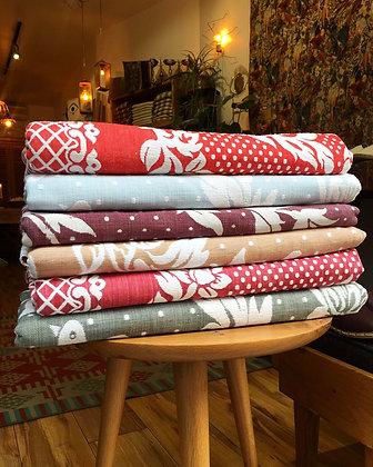 Handwoven Bedspread with Bird Pattern